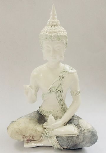 18cm WHITE Thai Buddha Statue of Protection